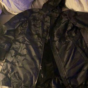 Michael kors camouflage black rain coat